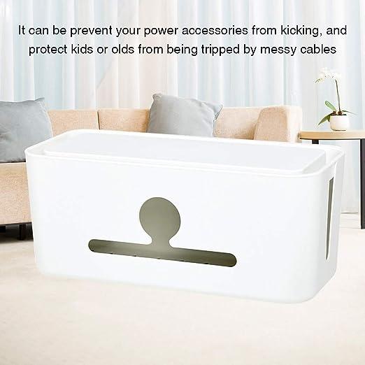 xiegons0 Caja de gestión de Cables, ABS Blanco/Gris, 31 x 14 x 13 ...