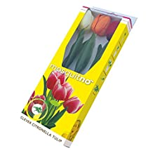 MosquitNo Anti-Insect Decorative Tulip Flowers, Colors Vary, 3 Count