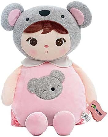Me Too Toddler Kids Backpacks Plush Bags Kepple Little Girls Gift Kindergarten Animal Backpacks (Koala Girl) …