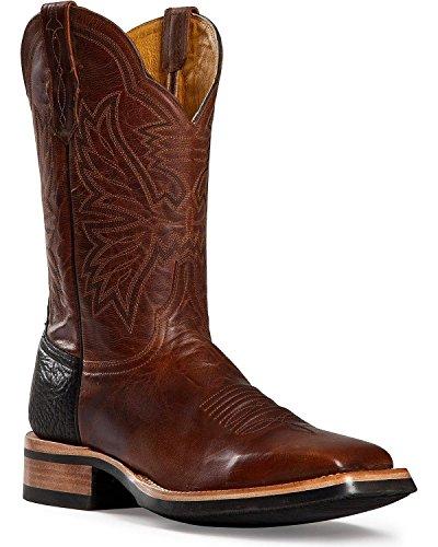 Cinch Men's Classic Goatskin Cowboy Boot Square Toe Brown 10 D(M) US (Goat Cowboy Boots)