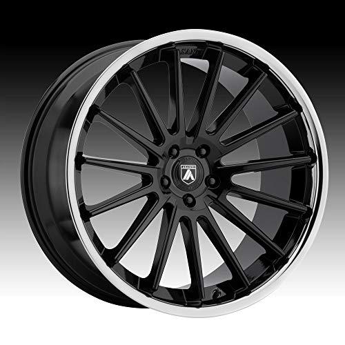 (ASANTI BLACK ABL-24 BETA Gloss Black Chrome Lip Wheel (22 x 10.5 inches /5 x 72 mm, 25 mm)