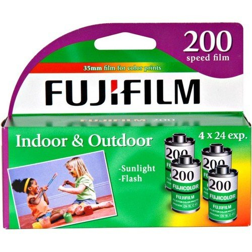 Film Pack Rolls - Fujifilm Fujicolor 200 Speed 24 Exposure 35mm Film - 4 Pack (Discontinued by Manufacturer)