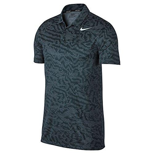 (Nike Dry Fit Breathe Jacquard Golf Polo 2017 Armory Navy/White Small)