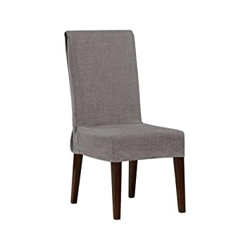 Sure Fit Mason Short Dining Room Chair Slipcover   Grey 047293451911