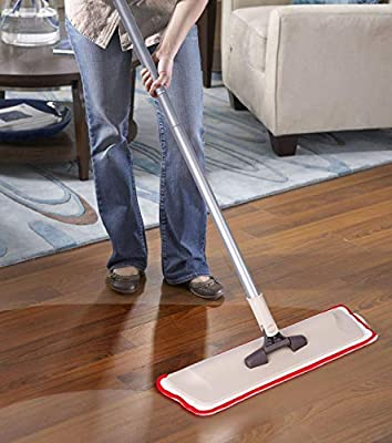 Microfiber Mop Hardwood Floor Cleaning - Washable Pads for Wood, Laminate & Tile - 360 Professional Dry Wet Reusable Dust Mops