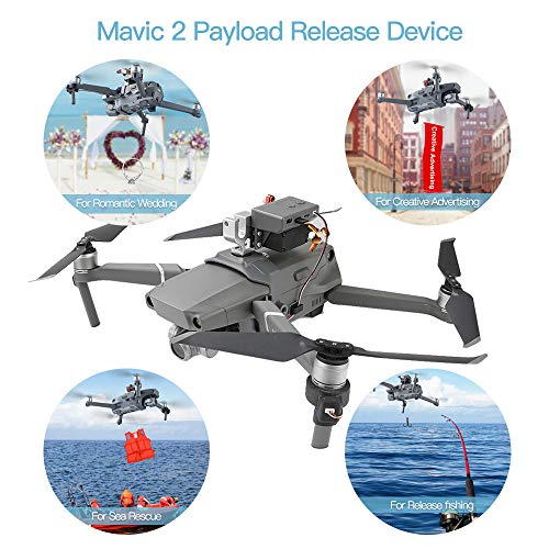 RCstyle Mavic 2 Drone Clip Payload AirDrop Release Fishing Bait Wedding Proposal Drone Delivery Device Compatible with DJI Mavic 2 Pro/Zoom from RCstyle