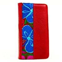 Porta pasaporte de Piel Rojo Marca AngeLozano Original 21x10x1cm