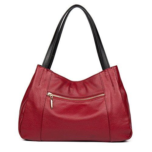 épaule main B Véritable Sacs rouge 6 Sac bandoulière porté Cartable à Femme Sac Sac Cuir cabas taropurple CLUCI x0PwqTgfP