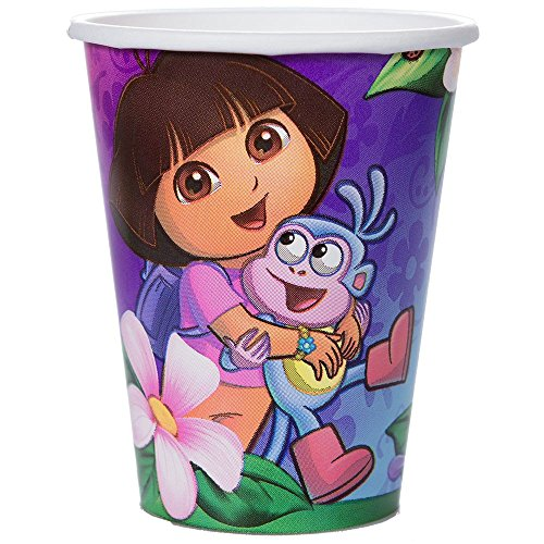 Amscan Quirky Dora's Flower Adventure Party Paper Cups (8 Piece), Multi -