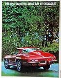 1966 CHEVROLET CORVETTE BEAUTIFUL FULL-COLOR DEALERSHIP SALES BROCHURE - ADVERTISMENT CHEVY VETTE 66