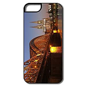 IPhone 5 Covers, Hohenzollern Bridge Cases For IPhone 5 - White/black Hard Plastic