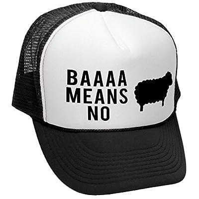 BAAAAAA MEANS NO sheep parody joke gag - Adult Trucker Cap Hat