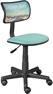 Urban Shop Dream Big Swivel Mesh Office Chair, Aqua