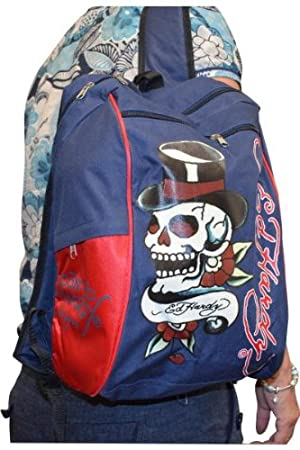 d2198fa637e Image Unavailable. Image not available for. Colour  Ed Hardy Backpack Back  to School