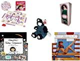 Girl's Gift Bundle - Ages 6-12 [5 Piece] - Dora the Explorer Scrabble Junior Game - Springtime Victorian Ladies By Elsie Massey - TY Attic Treasure Purrcey The Cat - The All-New Amelia Hardcover Boo offers