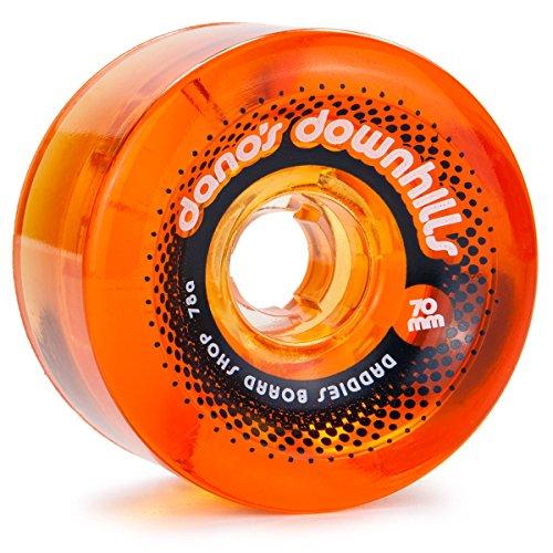 (Daddies Board Shop Dano's Downhills Longboard Wheels 70mm 78a Amber)