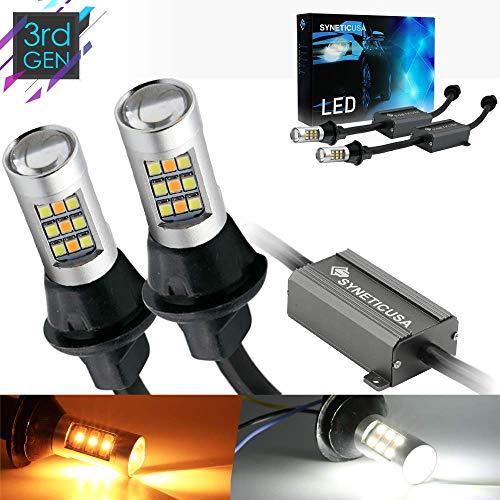 Error Free Dual Color Type 2 Switchback DRL LED Turn Signal Light Bulbs No Hyper Flash Built-in Resistors All in One (1157)