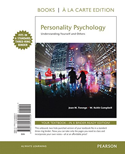 [B.E.S.T] Personality Psychology: Understanding Yourself and Others -- Books a la Carte TXT