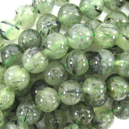 Green Prehnite Round Beads Gemstone 15.5