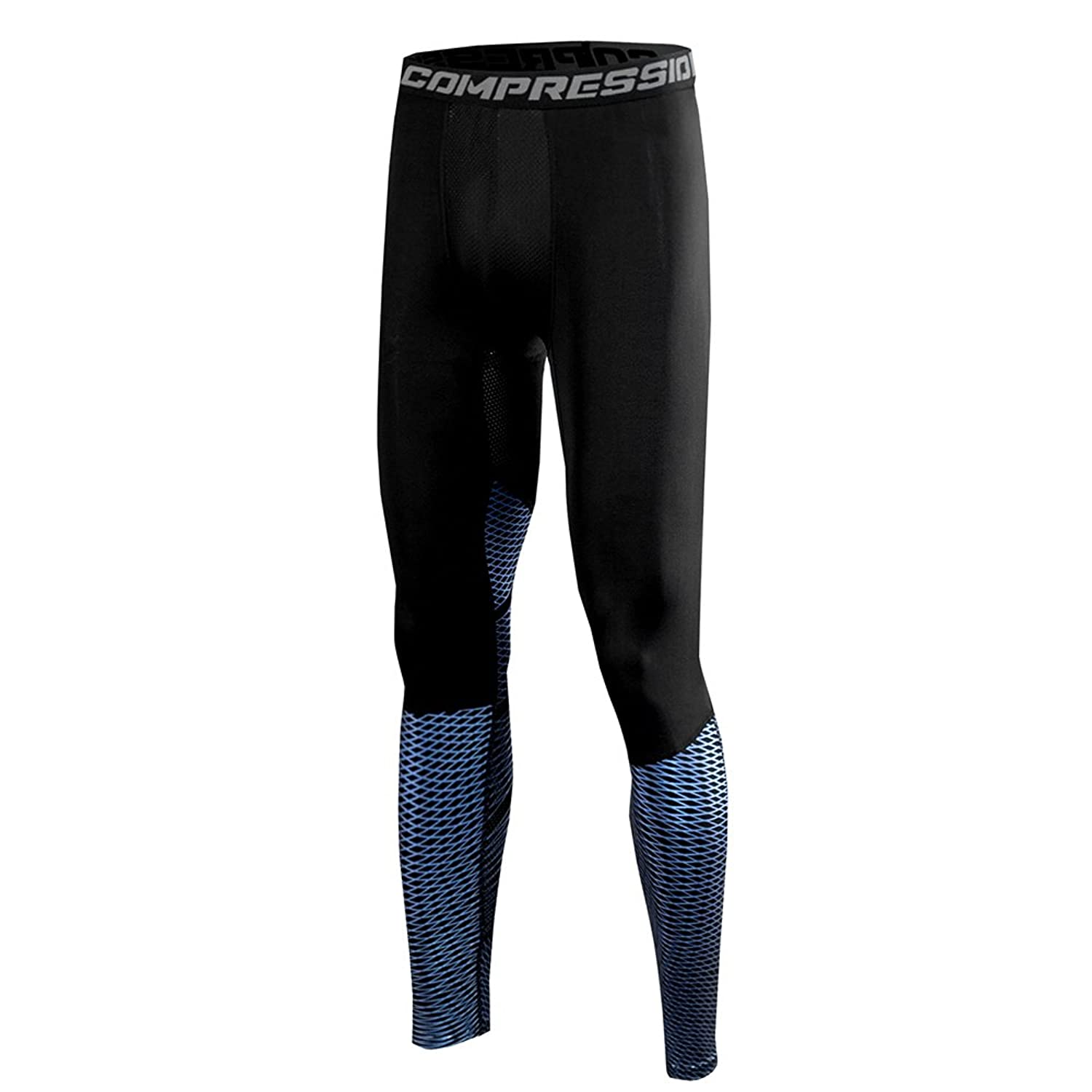 d41c22b615cc8 Amazon.com: 1Bests Men's Athletic Running Basketball Compression Pants  Fitness Quick-drying Pants Sports Tights Leggings: Clothing