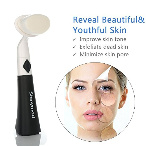 Ultrasonic Pore Facial Cleanser Brush,Ashiny Cleansing Fa...