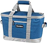 CleverMade SnapBasket 50 Can, Soft-Sided Collapsible Cooler: 30 Liter Insulated Tote Bag, Heathered