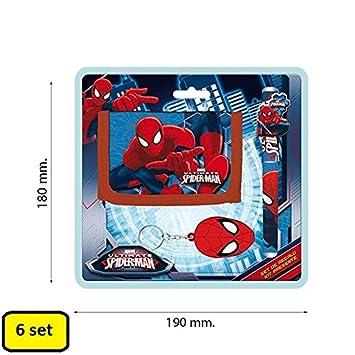 Partylandia Shop Box con 6 Set Spiderman Cartera Pluma ...