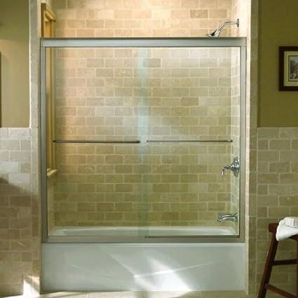 KOHLER K-702202-L-SHP Fluence Frameless Byp Bath Door, Bright ... on