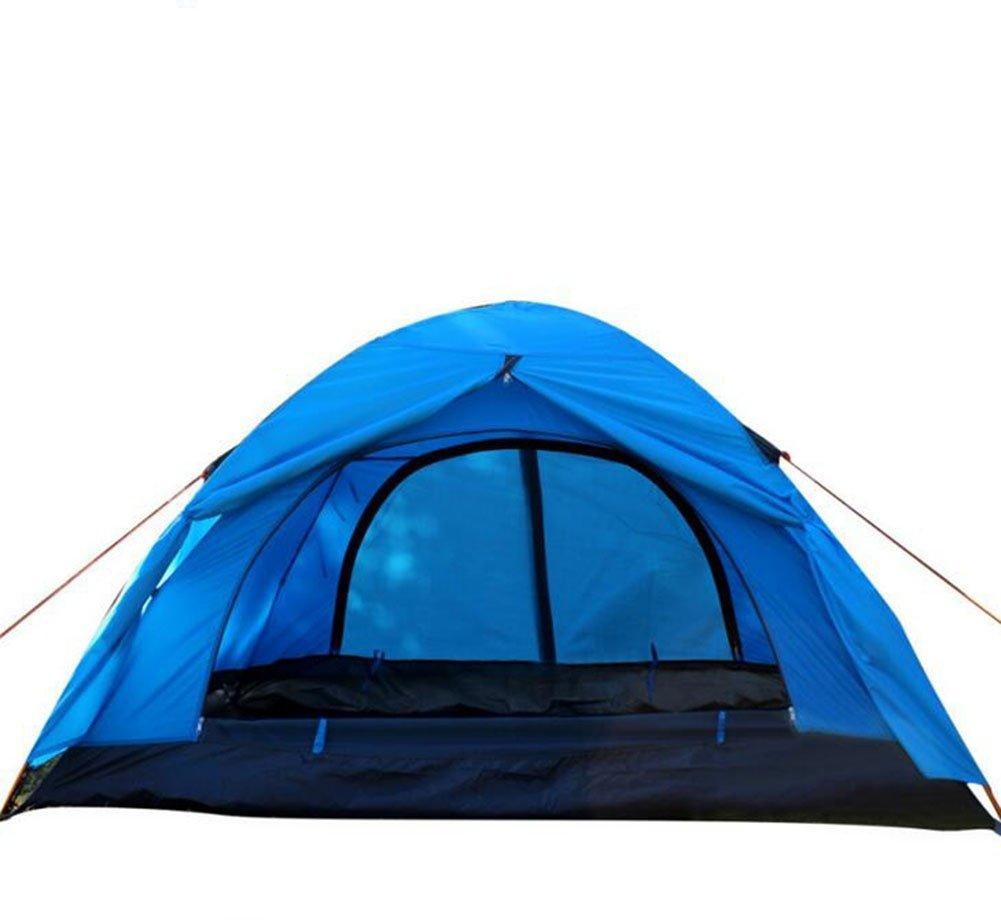 dongfangnn UU-Tienda Doble Al Aire Libre Doble De Los Pares De Vara Rod Del Camping, Blue