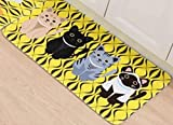 Carpet Animals - Cat Printed For Bathroom Kitchen Carpets- Carpet Flocking for Living Room Anti-Slip Tapete- Size 50 80 cm