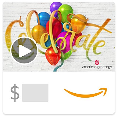 Amazon eGift Card - Celebrate (Birthday) (Animated) [American Greetings] (Best Way To Celebrate 21st Birthday)