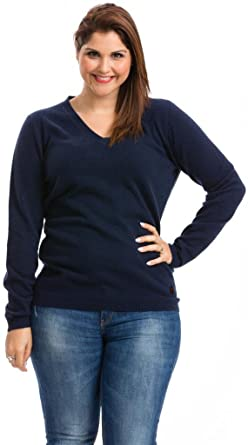 Plus Size Cashmere Sweater by Citizen Cashmere (Navy) (P41 100-03 ...