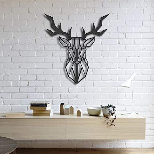 Deer Wall Art Wall Sign Wooden Wall Hangings Office Amazon Com