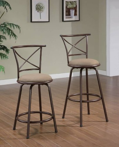 Klinge Barstool in Brown [Set of 2] Size: 29″ Review