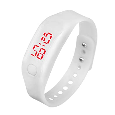 KaloryWee Montre Connectée Femme Montre Pas Cher Bracelet en Silicone Homme LED Digital Running Fashion La