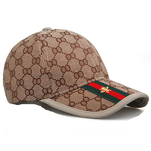 Unisex Fashion GG Baseball Caps Adjustable Quick Dry Sports Cap Sun Hat (Khaki-GG)