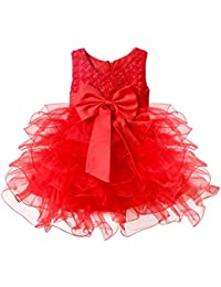 Baby Girls Flower Wedding Pageant Princess Bowknot Communion Party Dress