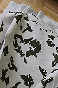 CAMOUFLAGE FABRIC MILITARY Russia winter CAMO cotton hunting Birch white
