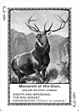 Monarch of the Glen - by E.Landseer 1897 Fireside Game of Famous Paintings Card #C9 (EX+)