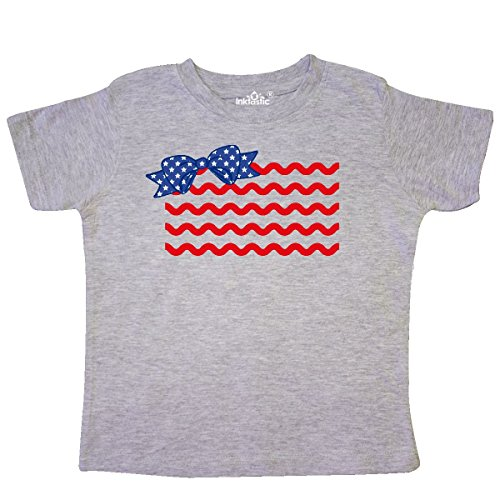 inktastic Rick Rack Flag Toddler T-Shirt 5/6 Heather -