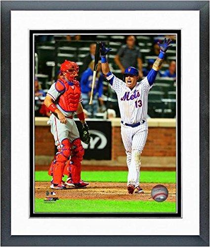 "Asdrubal Cabrera New York Mets 2016 Action Photo (Size: 12.5"" x 15.5"") Framed"