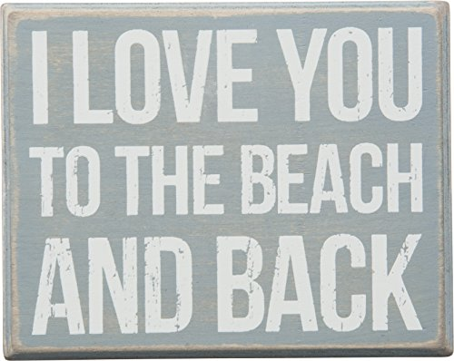 Primitives by Kathy I Love You to The Beach and Back Box Sign -