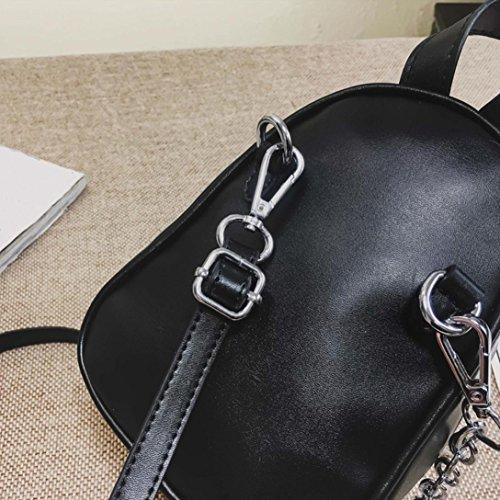 Women Girls Fashion Leather Crossbody Bag School Bag Backpack Satchel Large Tote Trave Chest Bag Zipper by SHL (Image #4)
