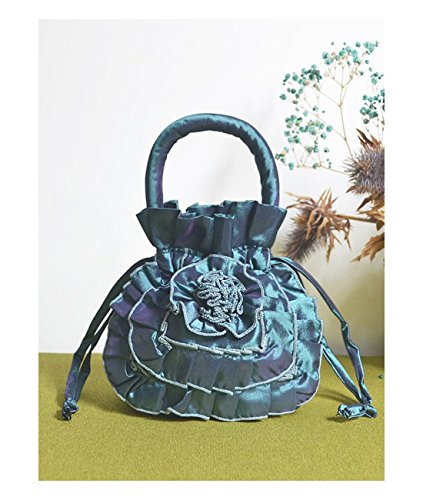 Women's Handbag Bucket Type Fair Lady Floral Patchwork Drawstring Slouch Bag For provide By [Zhao (Slouch Bag Pattern)