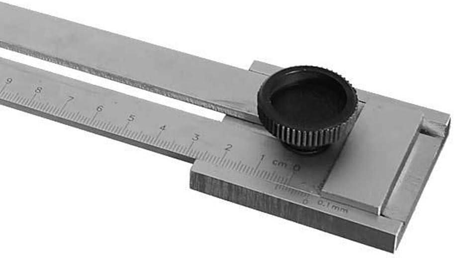 R/ègle de marquage en acier inoxydable universelle /à la main coup/ée 200 mm guide d/'aronde avec /échelle travail du bois avec pr/écision