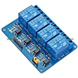 Kitsguru.Com Four Channel 4 Ch 12V Uln2003 Relay Board Module For Arduino Avr Arduino Raspberry Pi And Other Mcu