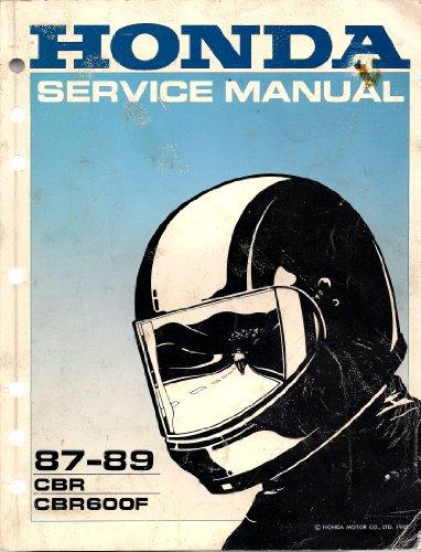 (1987 1988 1989 Honda CBR CBR600F Service Shop Repair Manual FACTORY OEM)