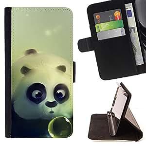 Pattern Queen - Panda Cute Bear Animal - FOR Samsung Galaxy S3 MINI 8190 - Hard Case Cover Shell