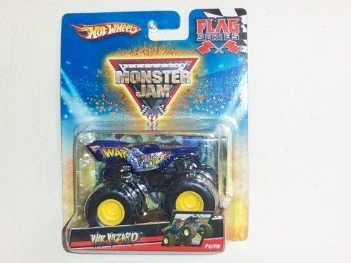 2010 Hot Wheels 1:64 Scale Monster Jam Flag Series Truck- War Wizard #71/75 by Monster - Monster Truck Wizard War