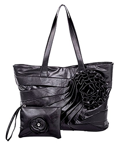 parinda-june-faux-leather-tote-with-wristlet-black